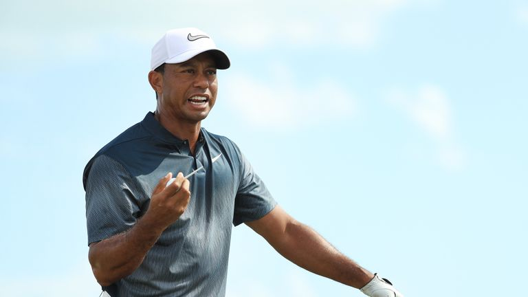 Woods dropped another shot at the 10th before getting back on track
