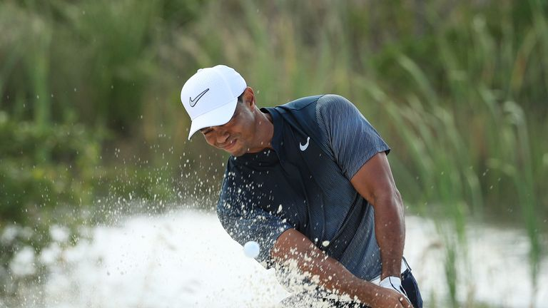 Tiger Woods bogeyed four of the first seven holes in a tough start to day three