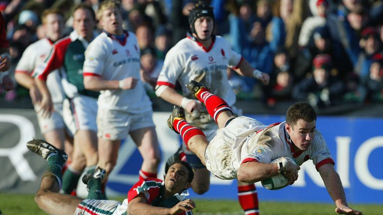 Ulster stunned Leicester by winning 33-0 in Belfast, with skipper Andy Ward among the try scorers