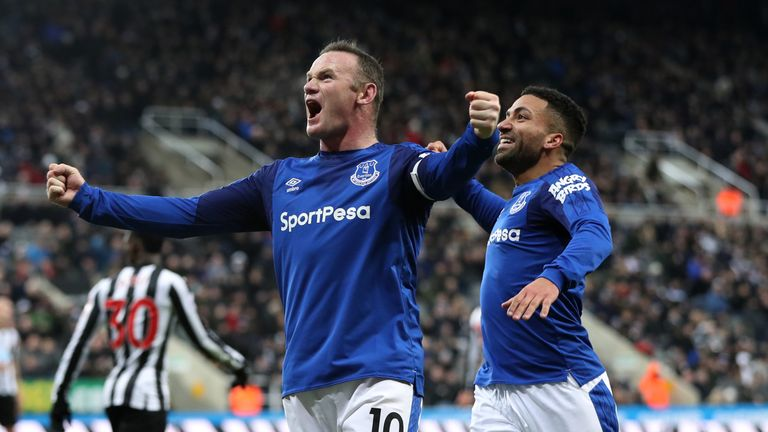 Rooney has scored six goals in his last five games for Everton