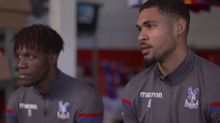 Zaha (left) and Loftus-Cheek (right) answered fans' Twitter questions