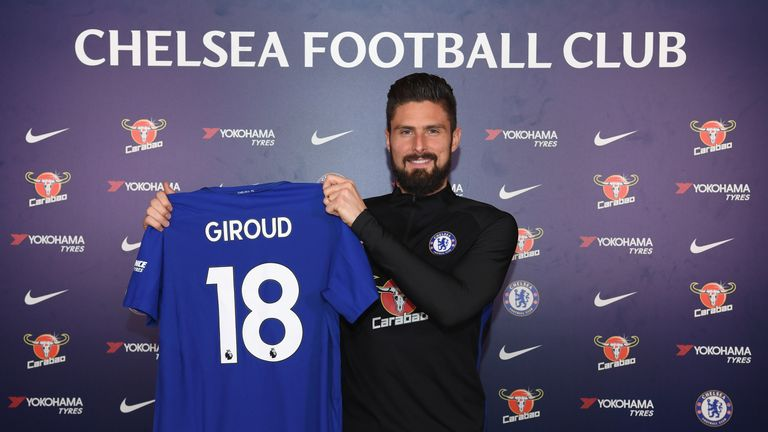 Olivier Giroud has moved to Chelsea from Arsenal