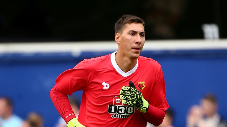 Costel Pantilimon arrives at the City Ground from Watford