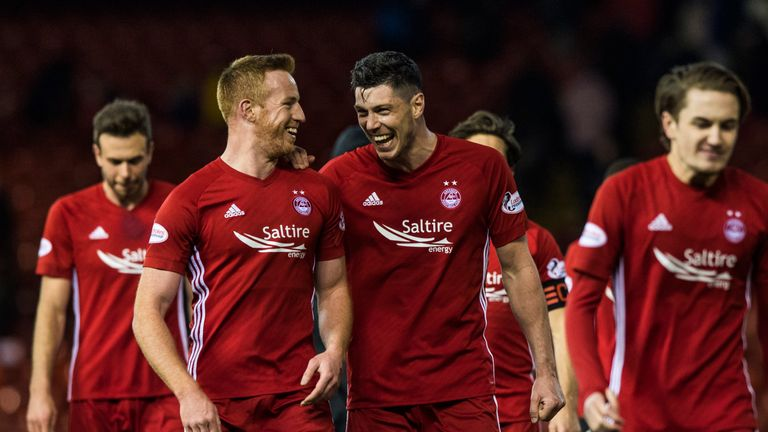 Scott McKenna (centre-right) played 90 minutes in both of Scotland's friendlies against Hungary and Costa Rica.