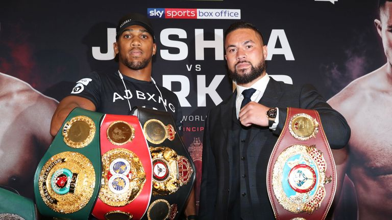 Joshua will defend his WBA 'super' and IBF belts against WBO champion Parker on March 31, live on Sky Sports Box Office
