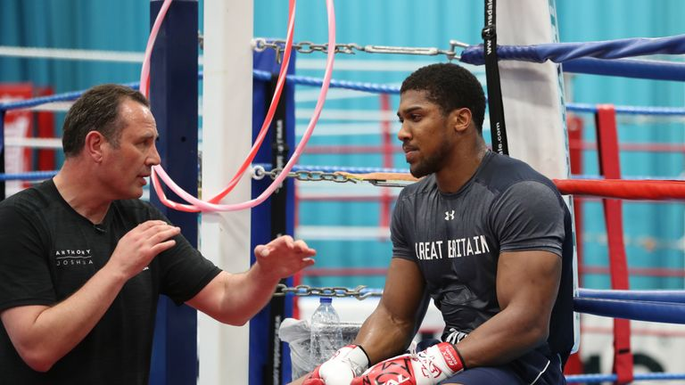 Rob McCracken helps to guide Anthony Joshua's career