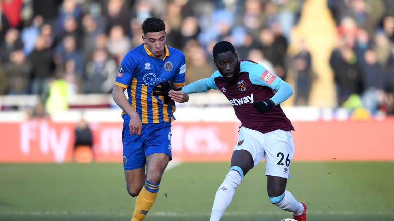 West Ham were held to a goalless draw by League One Shrewsbury on Sunday