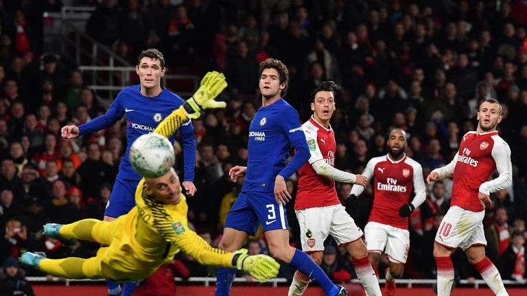 Arsenal came back to beat Chelsea 2-1 and reach the Carabao Cup final