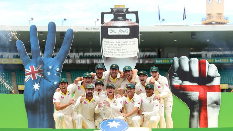 Australia regained the Ashes from England during the 2017/18 series
