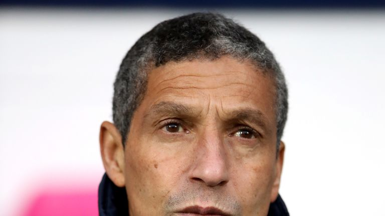 Chris Hughton was left frustrated by Brighton's defending at set-pieces against West Brom