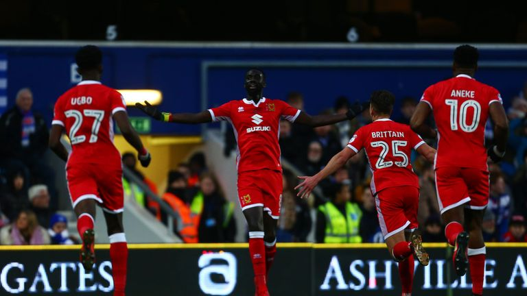 Ousseynou Cisse sent MK Dons into the fourth round