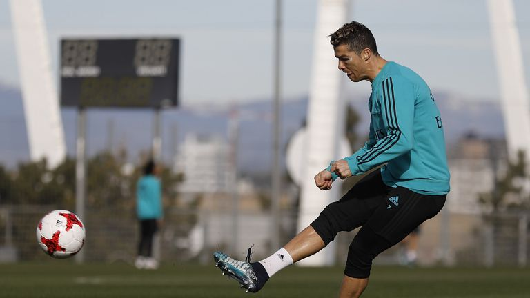 Ronaldo trained with the side on Tuesday and should be available for Wednesday's Copa del Rey match