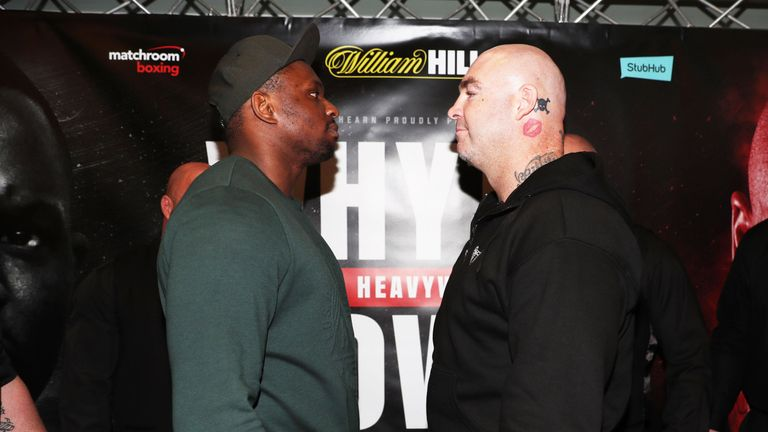 Lucas Browne (right) faces Dillian Whyte at The O2 on March 24, live on Sky Sports