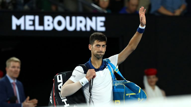 The former world No 1 bids farewell to the Rod Laver Arena crowd