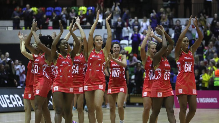 England's netball side were named team of the year