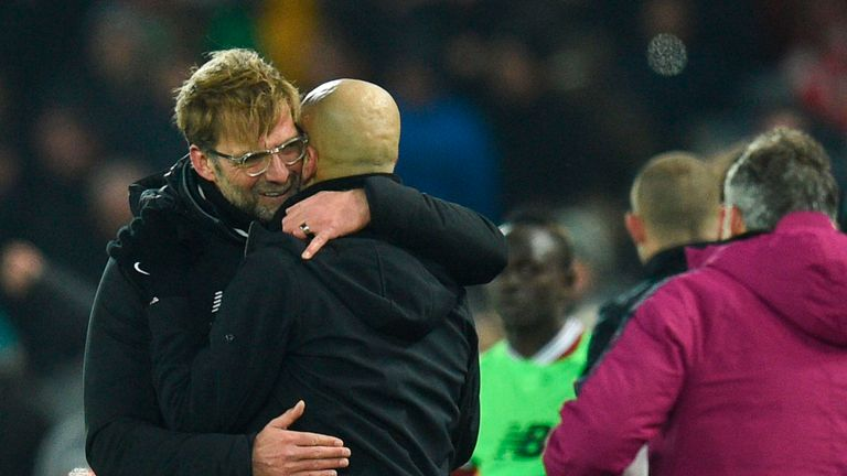 Jurgen Klopp (left) has an impressive managerial record against Pep Guardiola