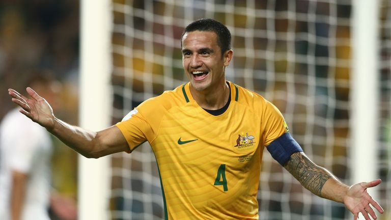 Tim Cahill, now 38,  was instrumental in helping Australia qualify for the World Cup