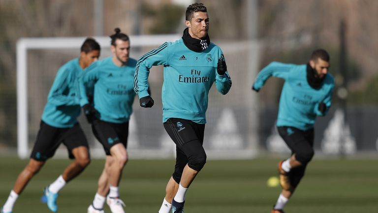 Madrid boss Zinedine Zidane confirmed Ronaldo received two or three stitches for the cut