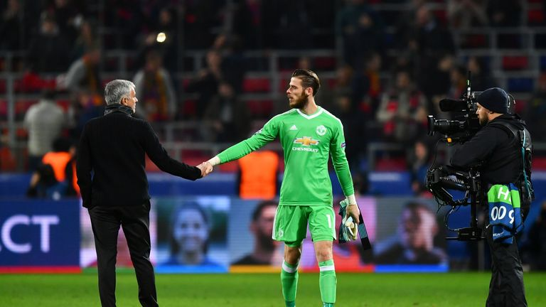 Jose Mourinho has been inspirational at United says David De Gea