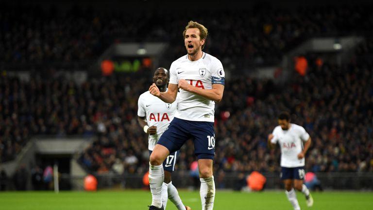 Harry Kane scored twice against AFC Wimbledon on Sunday
