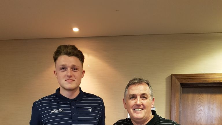 Harry Souttar (L) was signed to Ross County on loan from Stoke by the club's former manager Owen Coyle