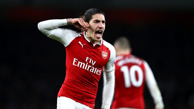 Hector Bellerin's injury-time goal snatched a 2-2 draw for Arsenal against Chelsea