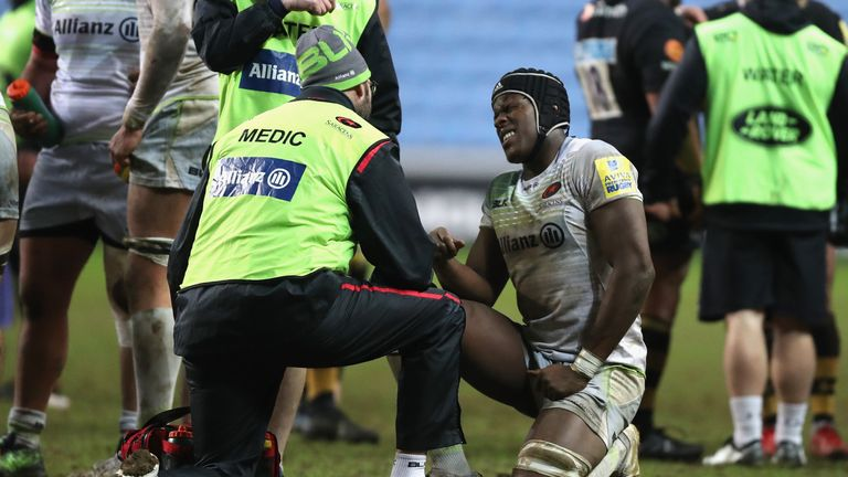 Maro Itoje returned to action ahead of time after breaking his jaw