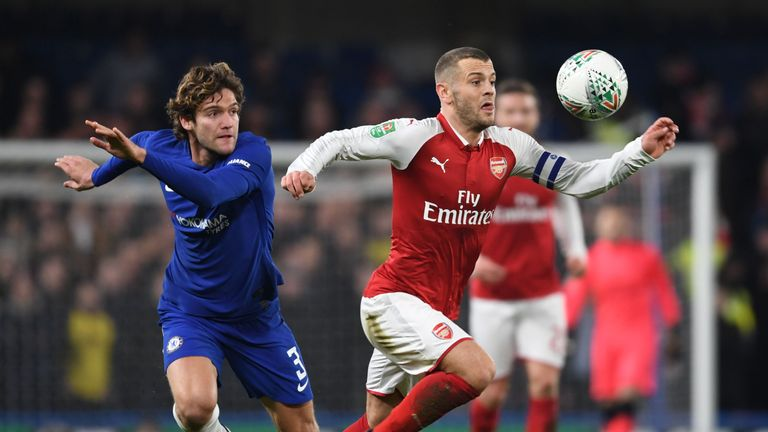 Jack Wilshere has played 90 minutes in each of Arsenal's last six games