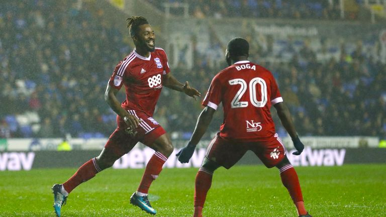 Birmingham City's Jacques Maghoma celebrates scoring his side's first goal of the game