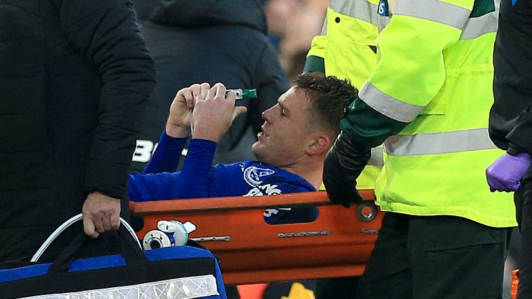 McCarthy broke his leg in a game against West Brom in 2018