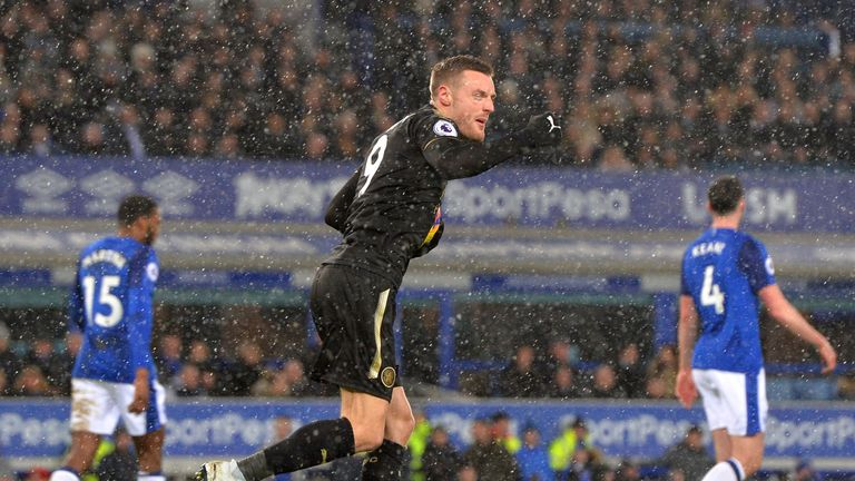 Jamie Vardy pulled a goal back for Leicester in the 72nd minute