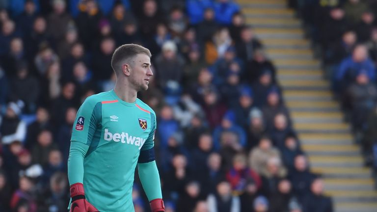 Hart was West Ham's standout performer on his return to Shrewsbury