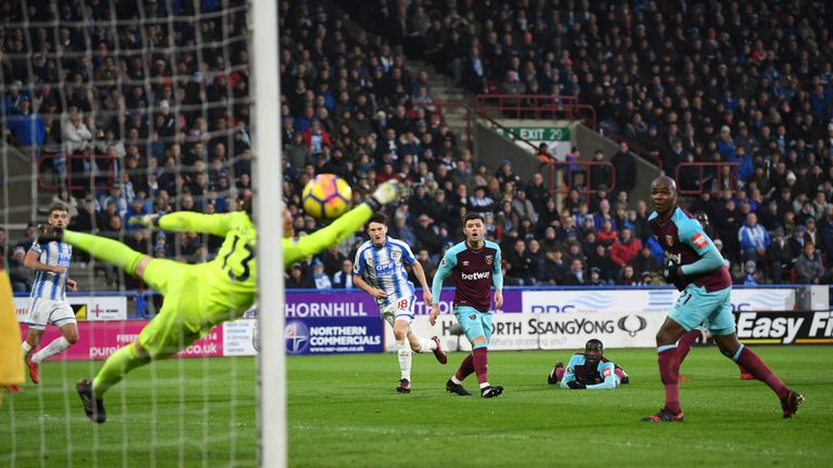 Joe Lolley equalised for Huddersfield with a brilliant strike five minutes before the break