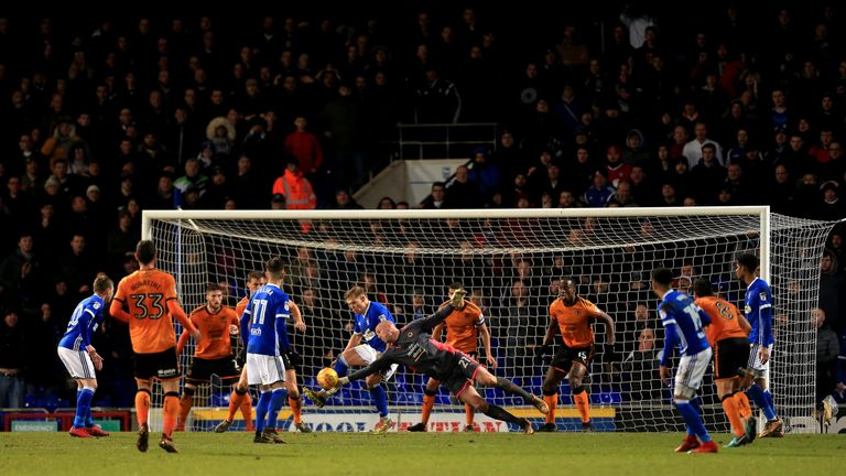 Wolves moved 12 points clear at the Championship summit with a 1-0 win over Ipswich