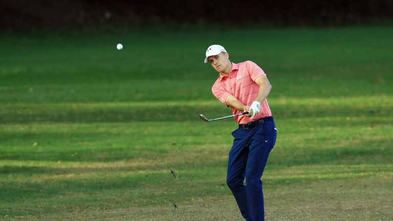 Jordan Spieth was three off the lead until coming to grief at the eighth