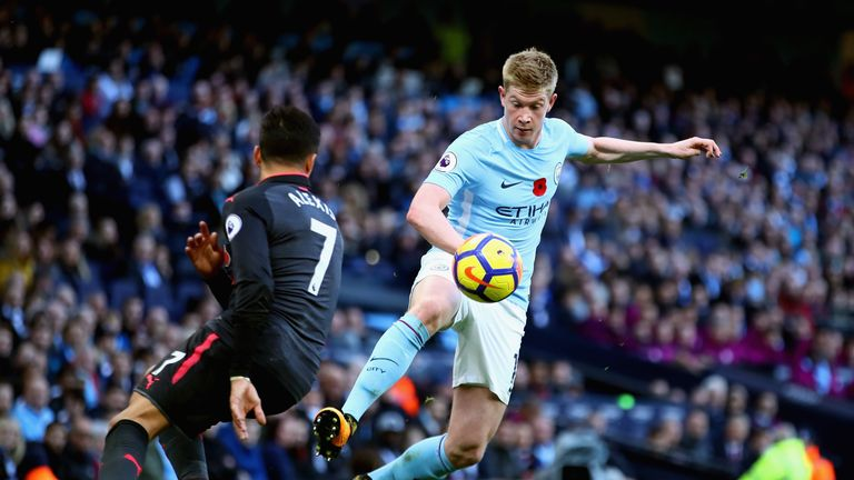 Man City beat Arsenal 3-1 in November to go eight points clear