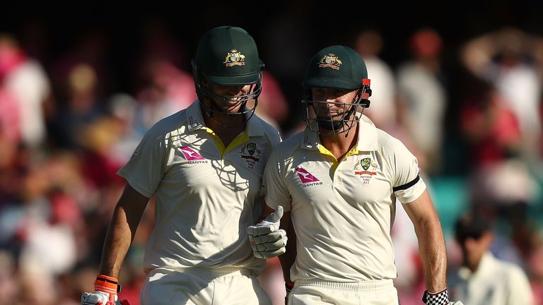 Mitchell and Shaun Marsh were unbeaten at stumps on day three at the SCG