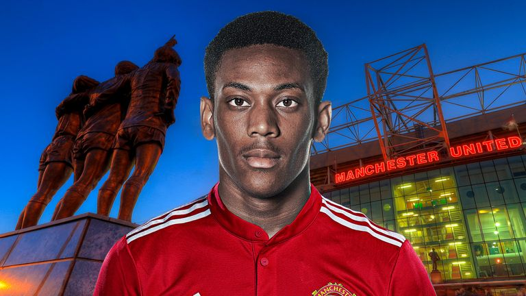 Anthony Martial was in fine form for United prior to Sanchez's arrival