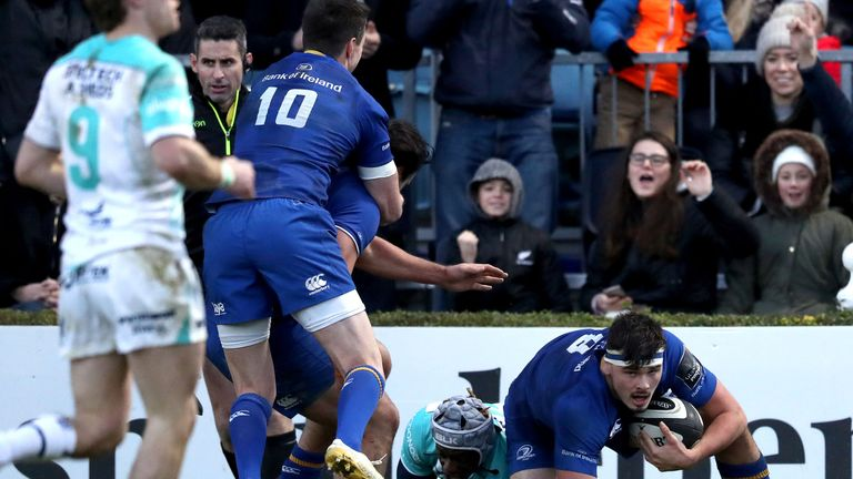 Max Deegan was superb for Leinster in their tight derby victory
