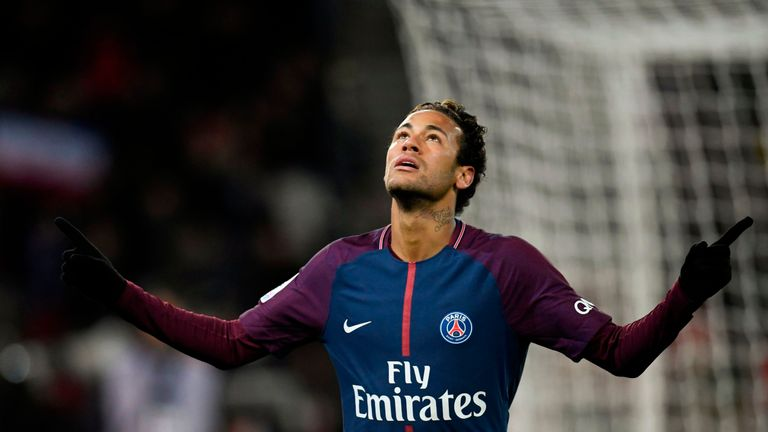 Neymar scored four times for Paris Saint-Germain