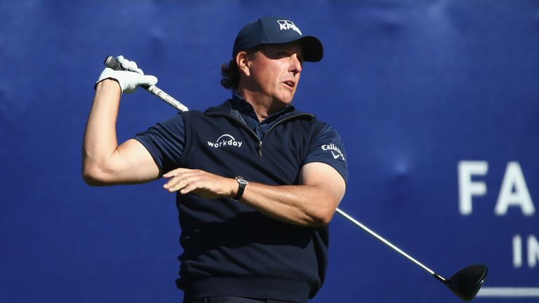 Phil Mickelson had a mixed bag of scores in the second round