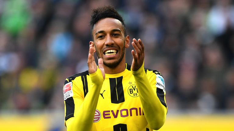 Pierre-Emerick Aubameyang is a January transfer target for Arsenal