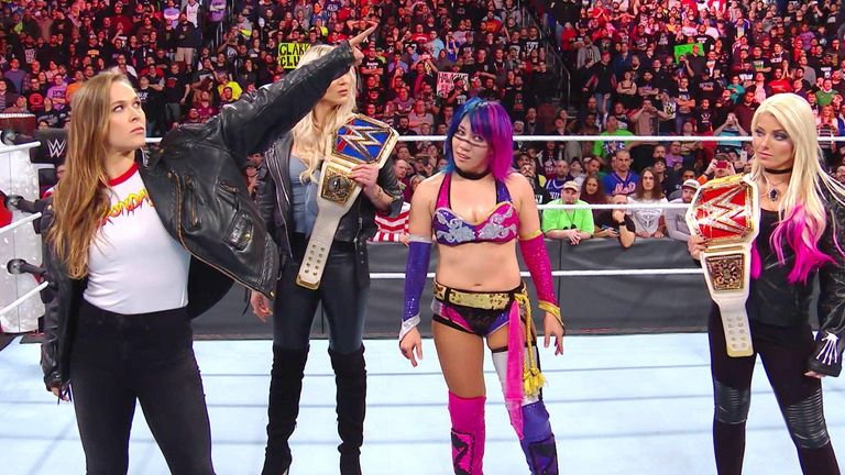 Rousey made her WWE debut at Royal Rumble