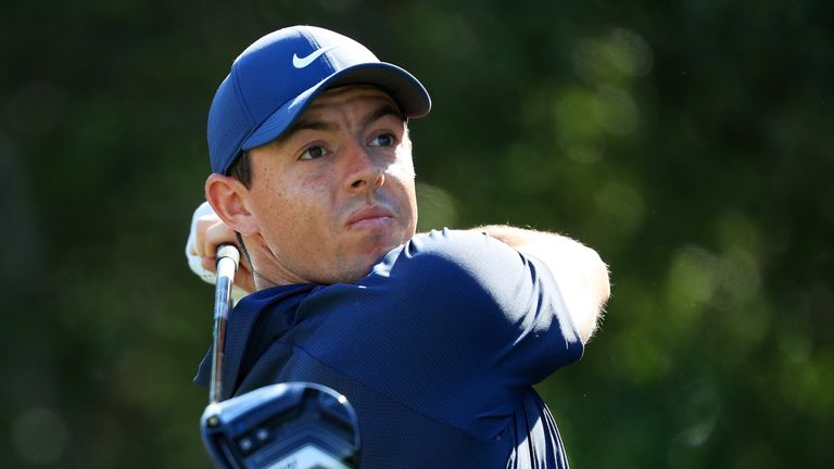 Rory McIlroy made up for his par-five frustrations with an eagle at the last