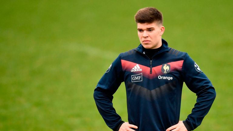 France's 22-year-old fly-half Matthieu Jalibert has been handed an opportunity