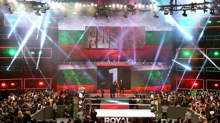 Rusev entered the men's Royal Rumble at number one