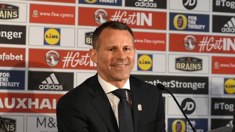 Giggs was unveiled as the new Wales manager on Monday