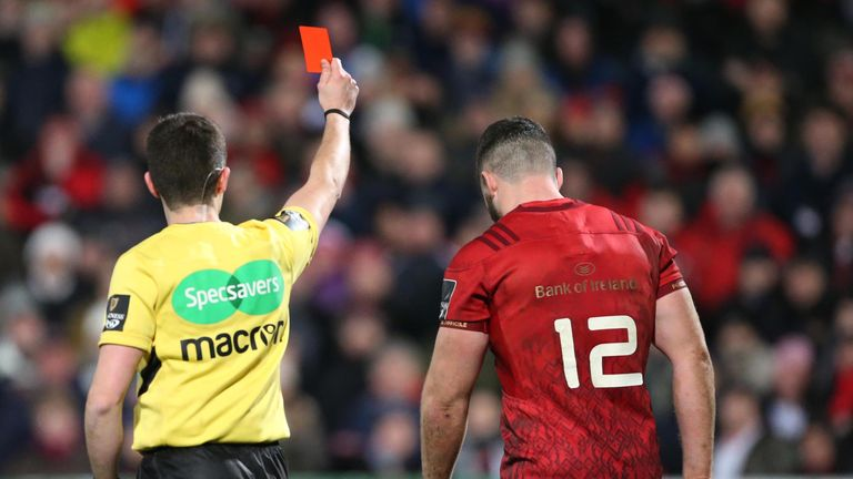 Referee Sean Gallagher's decision to red card Sam Arnold changed the entire match
