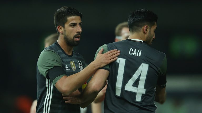 Sami Khedira and Can on international duty with Germany