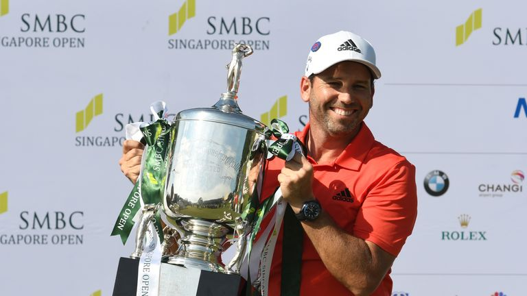 Sergio Garcia won the Singapore Open and is supporting Sentosa's #KeepItGreen campaign